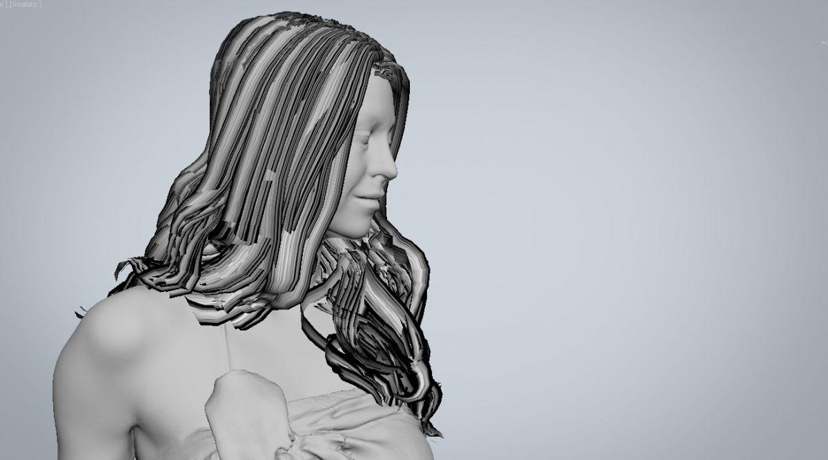 100 Flat strands - creating digital hair by Human Alloy