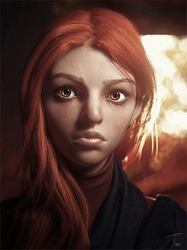Autumn - digital hair by Human Alloy