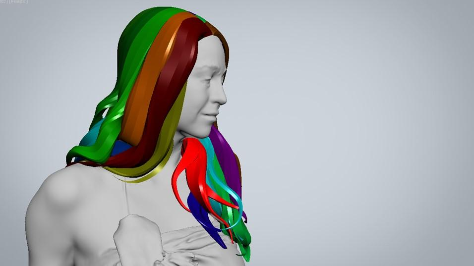 Main shapes - creating digital hair by Human Alloy