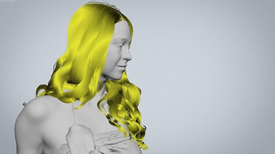 Main shapes hair strands - creating digital hair by Human Alloy