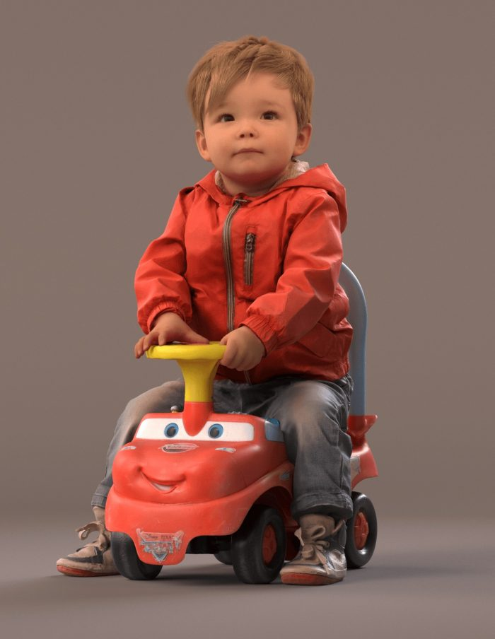 Child 3D model Pepijn playing