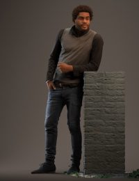 3D Human Andrés standing wearing a casual outfit
