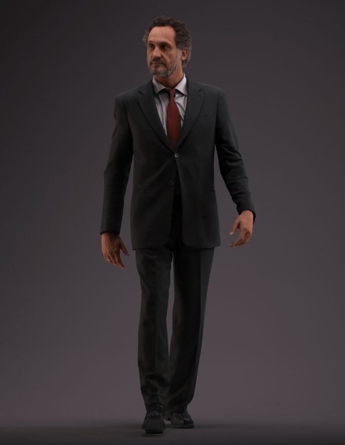 Premium 3D model Paul Jan walking