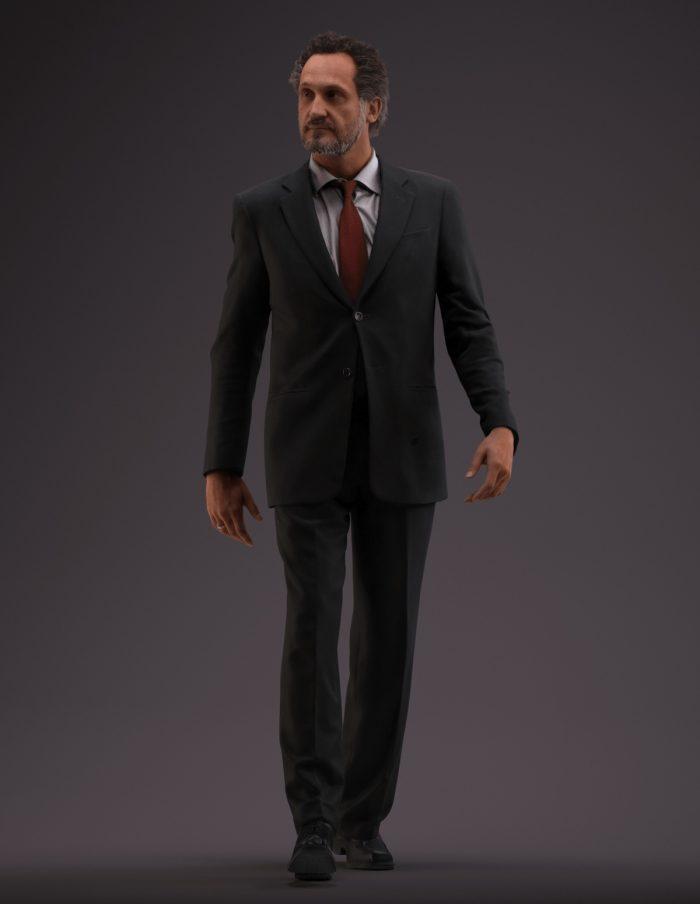 Premium 3D model Paul Jan walking