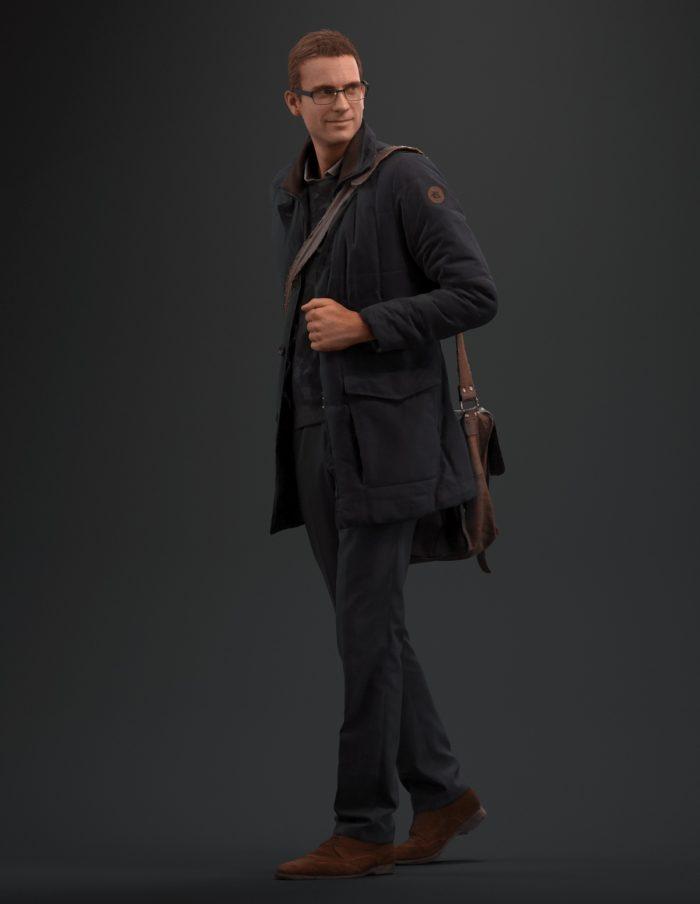 3D human Jeffrey standing