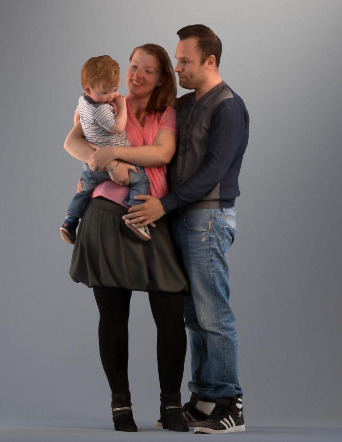 3D family